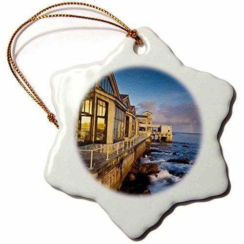 3Drose Orn 88706 1 California  Monterey Bay  Buildings Us05 Wbi1140 Walter Bibikow Snowflake Porcelain Ornament  3 Inch