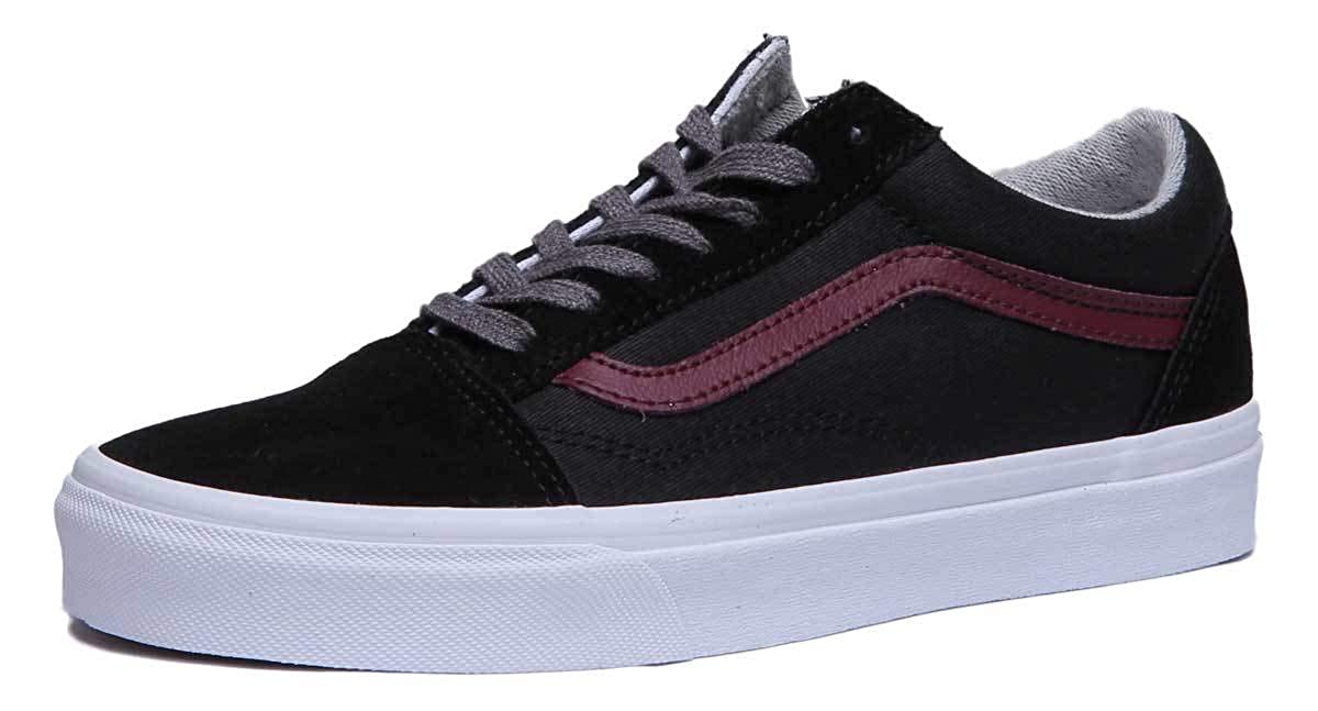 Vans Old Skool Jersy Damen Turnschuhe Canvas + Wildleder schwarz
