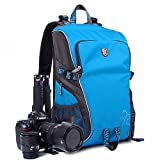 LINSPORT Large Deluxe Pro Photo Studio Camera Case Carry Shoulder Travel Bag Photography Backpack for Canon Nikon Sony DSLR SLR Blue