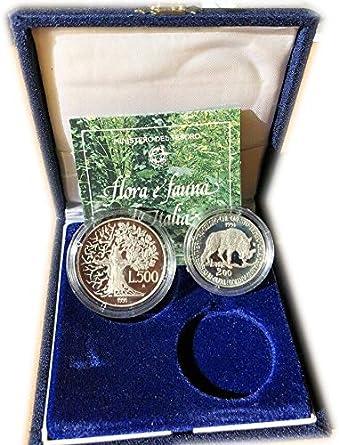 Italia dittico 200 e 500 lire ArgentoFlora e Fauna dItalia Anno 1991 Fior di Conio FDC DUE MONETE da collezione Silver Coin IN CONFEZIONE ORIGINALE Ministero del Tesoro