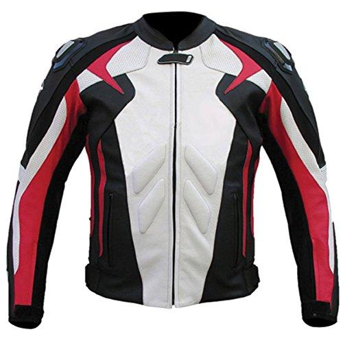 White And Black Motorcycle Jacket - 9