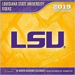 Calendario Tiger 2019.Lsu Tigers 2019 Calendario Lang Holdings Inc