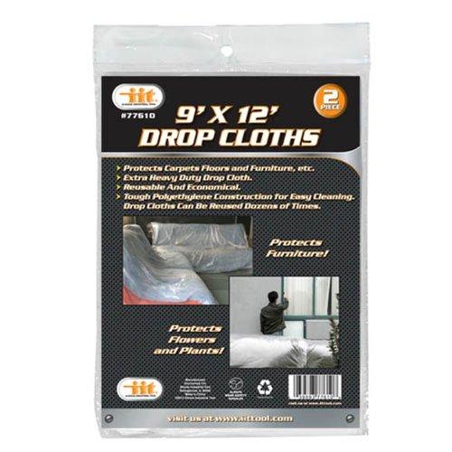 IIT 77610 Drop Cloths, 9-Feet X 12-Feet, 2-Pack