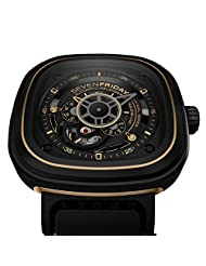 Seven Friday P2-2 Automatic Stainless Steel Case Black Leather Mineral Men's & Women's Watch