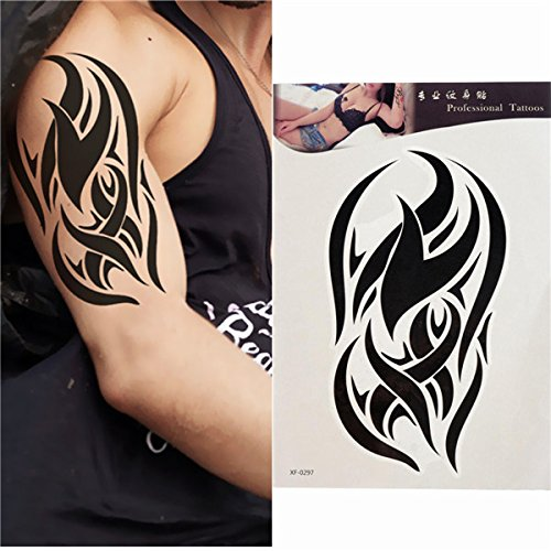 Temporary Tattoos - Temporary Tattoos Adult Fake Adults Temp Dalin Tattoo Large Tatoos Sleeves - Black Totem Tattoo Stickers Waterproof Temporary Tattoos Body Arm Leg Art Sticker - - ()