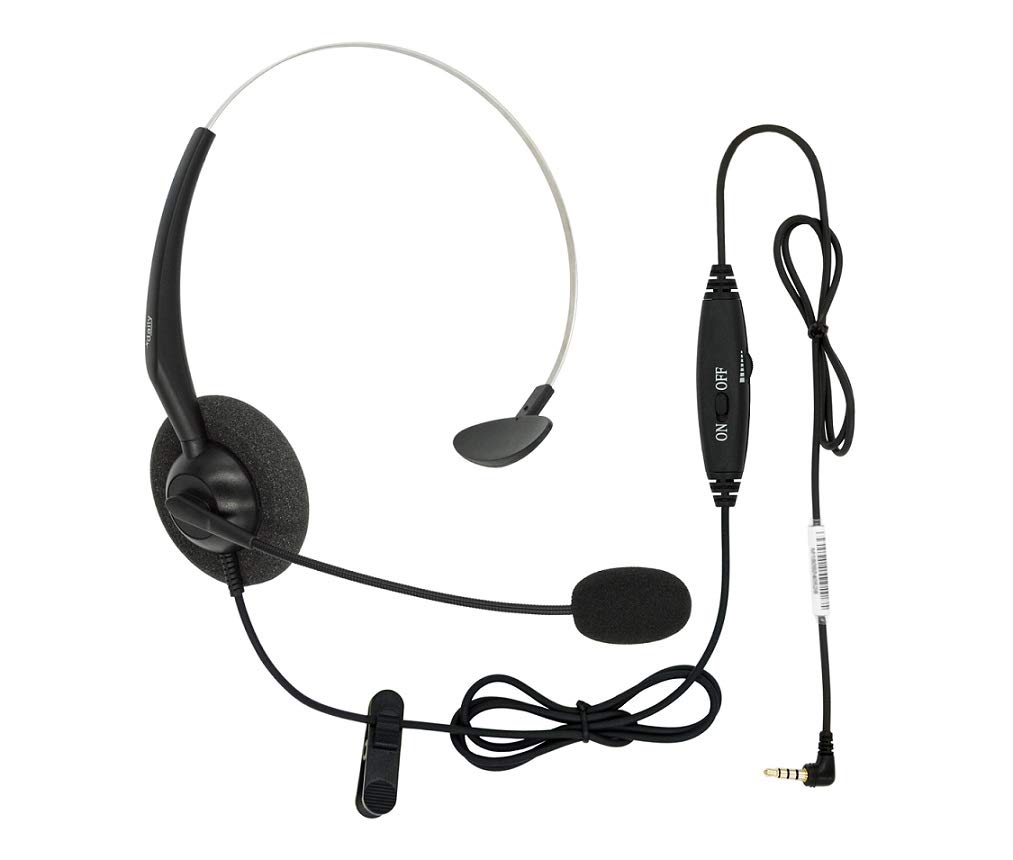 DailyHeadset 3.5 mm Jack Hands Free Cell Phone Headset On Ear Headphones for iPhone iPad MacBook Tablets Smartphones & Android System Phones 5202003