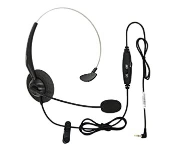 amazon dailyheadset 3 5 mm jack hands free cell phone headset Telephone Jack Connections dailyheadset 3 5 mm jack hands free cell phone headset on ear headphones with microphone mute