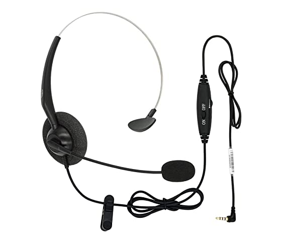Amazon Com Dailyheadset 3 5 Mm Jack Hands Free Cell Phone Headset