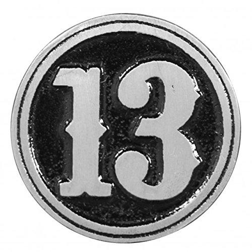 THIRTEEN, Original Artwork, Expertly Designed Lead Free Pewter Biker PIN, Size - 1.25