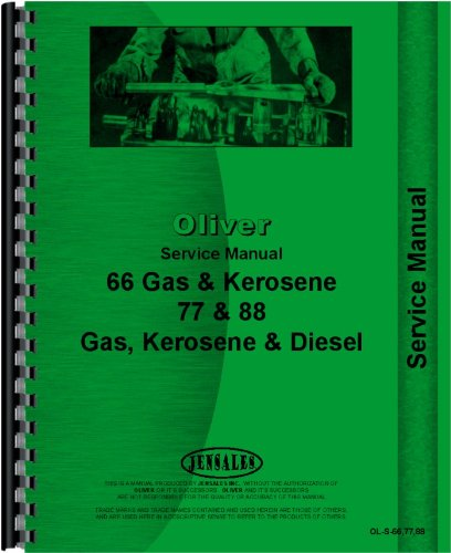 Oliver 88 Tractor Service Manual (Gas, Kerosene and Diesel)
