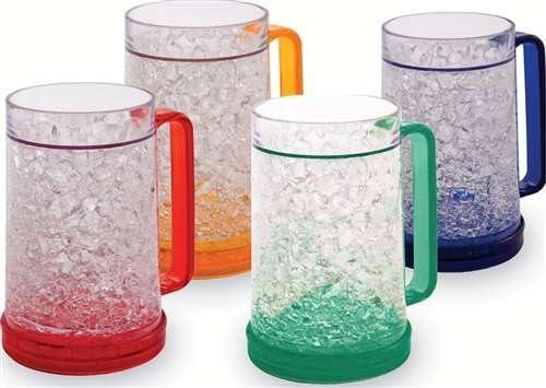 De doble pared taza de Gel congelador - juego de 4 - rojo, naranja ...