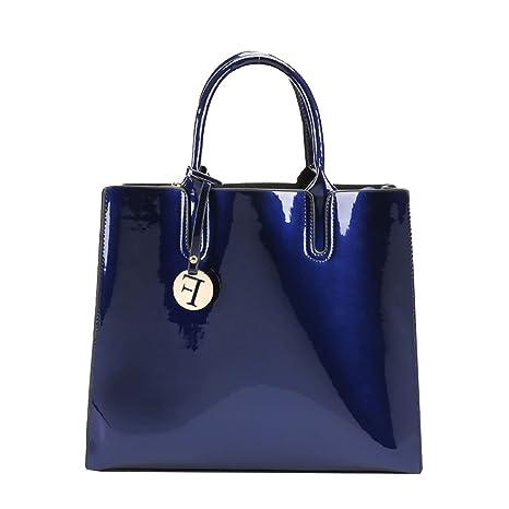 DEERWORD Para mujer Carteras de mano Bolsos bandolera Bolsos bolera Bolsos maletín Cuero Azul