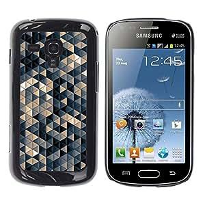 Be Good Phone Accessory // Dura Cáscara cubierta Protectora Caso Carcasa Funda de Protección para Samsung Galaxy S Duos S7562 // Pastel Beige 3D Pattern