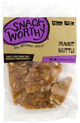 Snackworthy Peanut Brittle, 3.9 Ounce (Pack of 6) by Snackworthy
