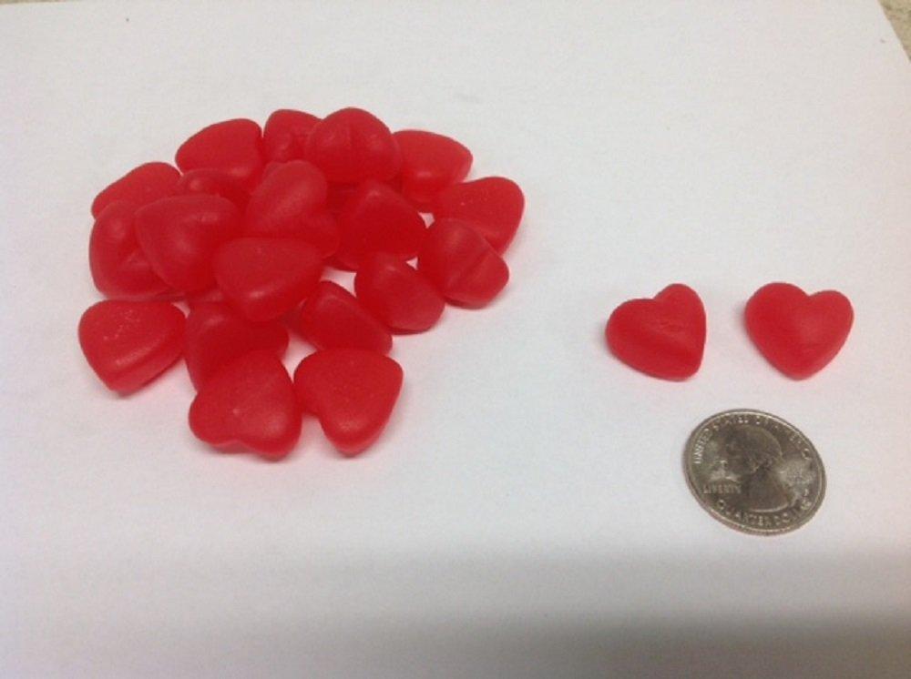 Small Cherry JuJu Hearts 10 pounds JuJube Hearts Cherry Hearts