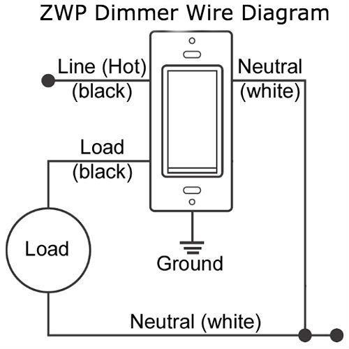 Zwp Z Wave Plus In Wall Smart Light Dimmer Switch