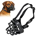 Openuye Soft Rubber Dog Basket Muzzle - Quick Fit Dog Muzzle for Stop Biting - Snapping - Chewing - Allows Drinking - Panting - 5 Size Available (5)