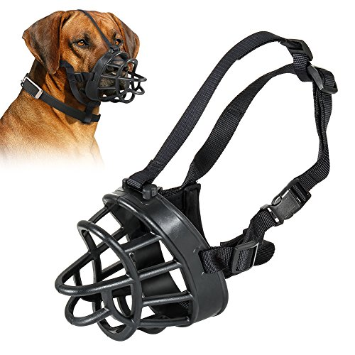Openuye Soft Rubber Dog Basket Muzzle, Quick Fit Dog Muzzle for Stop Biting, Snapping, Chewing, Allows Drinking, Panting, 5 Size Available (5)