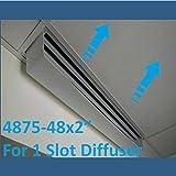 White Linear Diverter 48