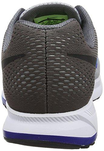 Nike Herren Air Zoom Pegasus 33 Wolf Grau / Schwarz / Dunkelgrau / Blau