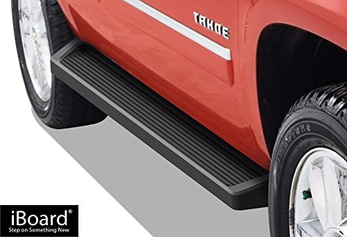 APS iBoard Black Running Boards Style Custom Fit 2005-2019 Chevy Tahoe/GMC Yukon Sport Utility 4-Door (Excl. Z71 & Hybrid Models) & 2002-2006 Avalanche Crew Cab (Nerf Bars | Side Steps | Side Bars)