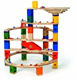 Hape Quadrilla Wooden Marble Run Construction Twist and Rail Add On Set