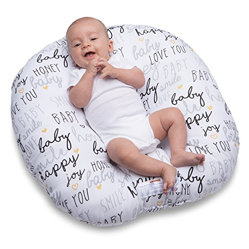 Pillow Infant Baby Beautiful Baby - Boppy Newborn Hello Baby Lounger, Black and Gold