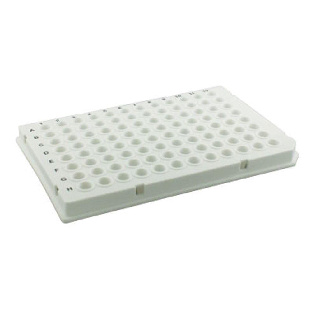 Olympus 0.1ml 96-Well PCR Plate, Semi-Skirted, Low Profile, White, 10 Plates/Unit by Olympus Plastics