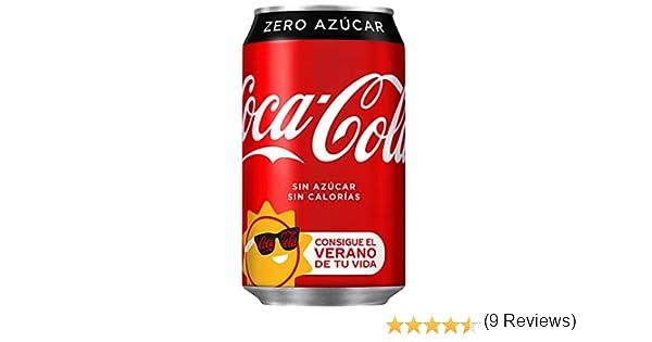 Coca-Cola - Zero, Lata 330 ml - [pack de 12]: Amazon.es: Alimentación y bebidas