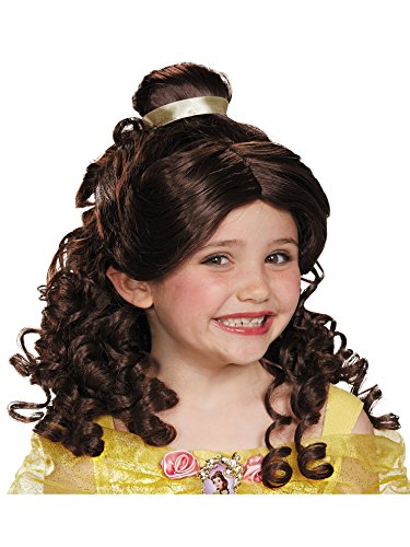 Belle Child Disney Princess Beauty & The Beast Wig, One Size -