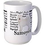 CafePress - Samoyed Traits Mugs - Coffee Mug, Large 15 oz. White Coffee Cup