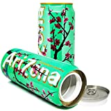 Arizona Green Tea Ginseng Honey Soda Cola Diversion Safe Can Stash Cash Money Jewellery Keys Secret Compartment Pop Can Beverage Green, Includes an Exclusive WeNeedBongs(TM) Scoop Card