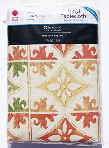 Scrollwork Easy Care Vinyl Tablecloth - 70