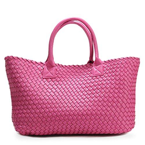 De à Sac Main Nouvelle Tissé Pink Capacité 6qx0ngf