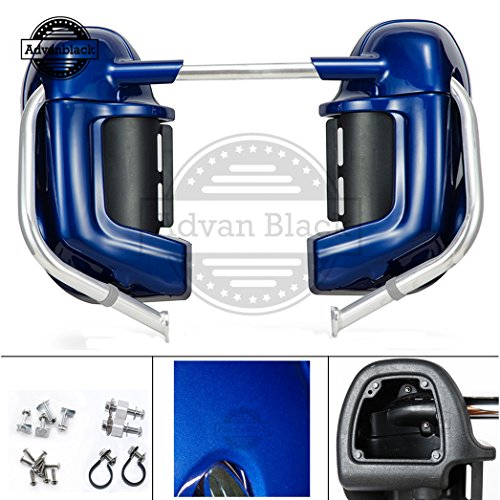 US STOCK! Advanblack Superior Blue Lower Vented Fairing Kits Pre-Rushmore Leg Warmers Body Kits Glove Box Fit for Harley Davidson Touring Street Glide FLHX 1983-2013