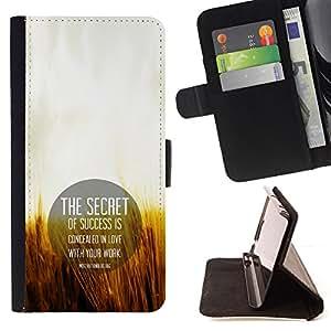 BullDog Case - FOR/Samsung Galaxy S3 III I9300 / - / THE SECRET OF SUCCESS /- Monedero de cuero de la PU Llevar cubierta de la caja con el ID Credit Card Slots Flip funda de cuer