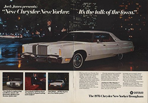 Jack Jones presents Chrysler New Yorker - the talk of the town ad 1976 NY