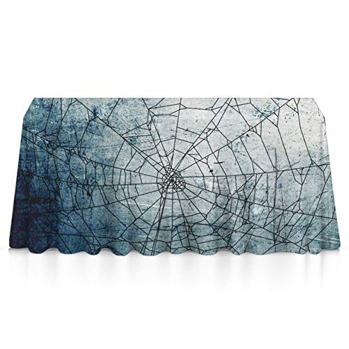 GLORY ART Halloween Spider Web Rectangle Tablecloth Water