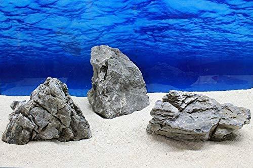 AQUARISTIKWELT24 No. 7652 Aquarium Grey Decorative Stones Seiryu Art. 69 Original Photo Size XL 25-45 cm