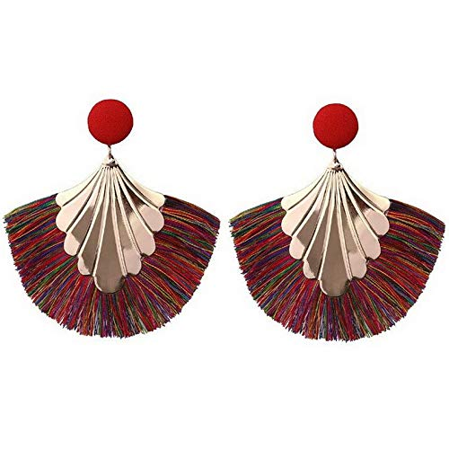 Endicot Lady Creative Fashion Fringed Earrings Stud Retro Bohemia National Wind Jewelry | Model ERRNGS - 17013 |