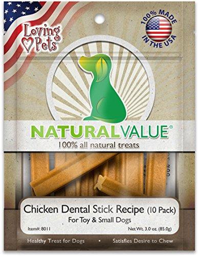 Loving Treat Pets (Lp Nat Chick Dentl Stks D Size 3Z Loving Pets Natural Value Chicken Dental Sticks Dog Treat 3Z)