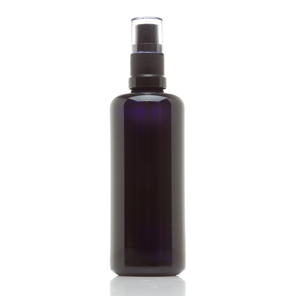Infinity Jars 100 Ml (3.4 fl oz) Black Ultraviolet Glass Fine Mist Spray Bottle 10-Pack by Infinity Jars (Image #3)