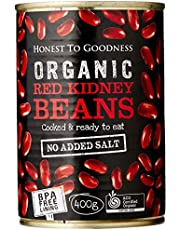 Honest to Goodness Organic Red Kidney Beans  - BPA Free (Cooked), 400g