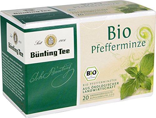 Bünting Tee Bio Pfefferminze 20 x 2 g Beutel, 3er Pack (3 x 40 g)