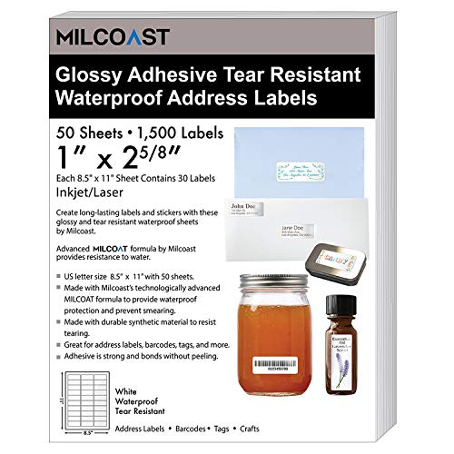 Milcoast Glossy White Waterproof Tear Resistant 1