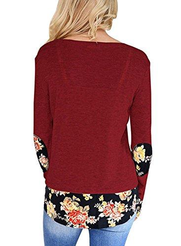 Miusolo-Womens-Tunic-Top-Long-Sleeve-Casual-T-Shirt-Floral-High-Low-Hem-Sweatshirt