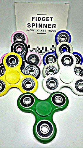 Wholesale Lot 50 PC Fidget Hand Spinners Bundle Bulk EDC Tri-Spinner Desk Toy Stress Anxiety Relief ADHD Student Relax Therapy Pack Combo Wholesale Lot by Decotoy