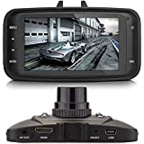 PANSIM LCD Screen Full HD 1080P Car Dash Camera with 4 IR LED for Night Vision, 2.7-inch(Black)