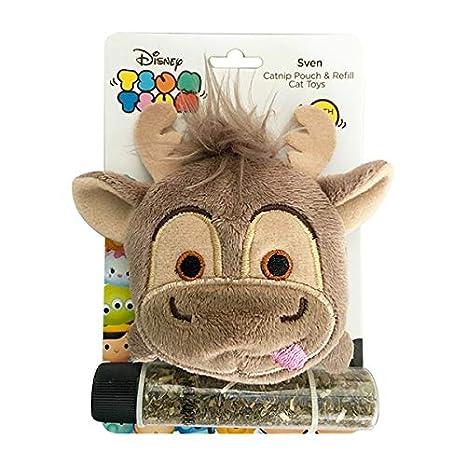 Disney Tsum Tsum Catnip Bolsa y Recambio de Juguete para Gato (Veneno)