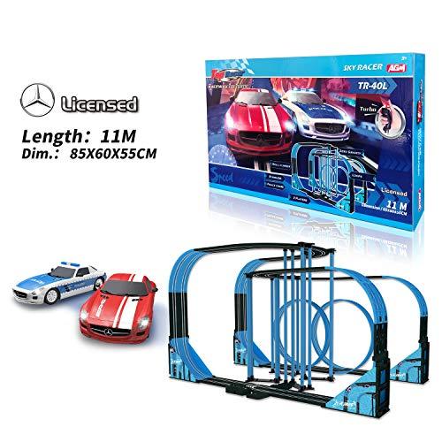 Sky Racer Slot car Race Set TR-40L 1:64 Scale from AGM MASTECH
